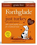 Forthglade Natural Grain Free Complementary Wet Dog Food Just 90 Percent Turkey 395 g (Pack of 18)