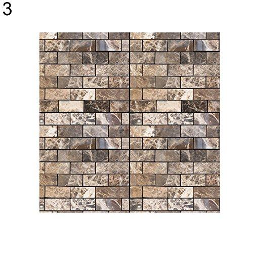 Sukisuki 30 X 30CM 3D Zelfklevende Tegel Stickers DIY reliëf stenen huis Decor 1 PC