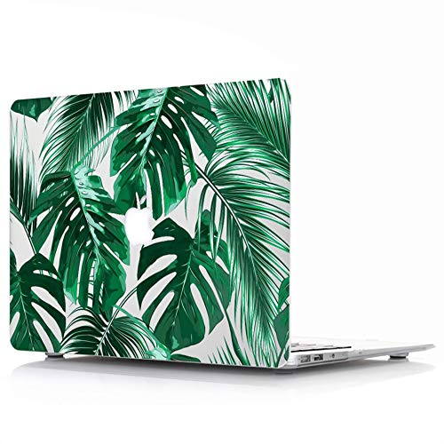 MacBook Air 13 Case Model: A1369/A1466 - L2W Protective Hard Case, Soft Touch Plastic Rubber Coated Shell Cover For Macbook Air 13 - Tropical Palms Leaves 09