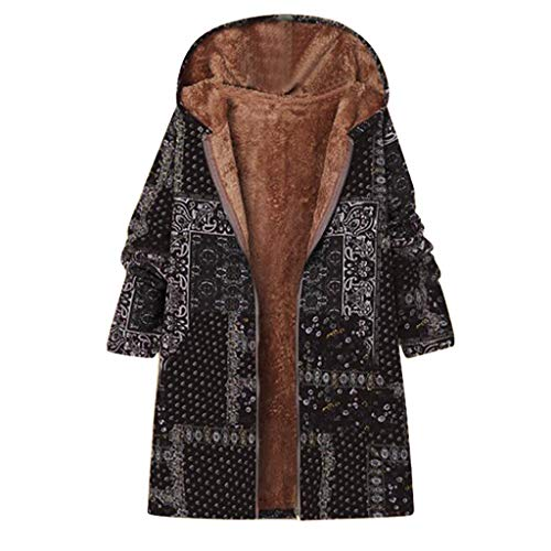 FEISI22 Women's Fashion Long Sleeve Lapel Zip Up Faux Shearling Shaggy Oversized Coat Jacket with Pockets Warm Winter