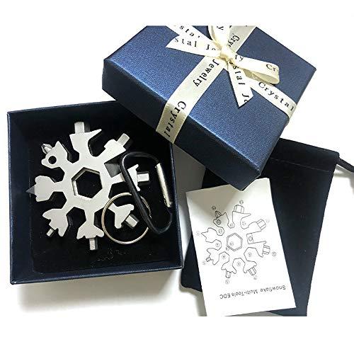 Multiherramienta 18 en 1 copo de nieve, 2 herramientas de extracción e instalación de aleación de zinc, llevarlo contigo (caja de regalo).