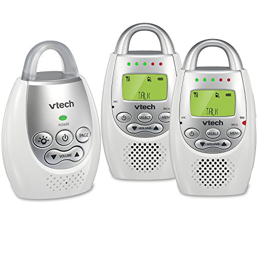 VTech DM221-2 Audio Baby Monitor with up to 1,000 ft of Range, Vibrating...