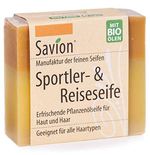 Savion Sportler und Reiseseife für Haare und Körper Bio 85g