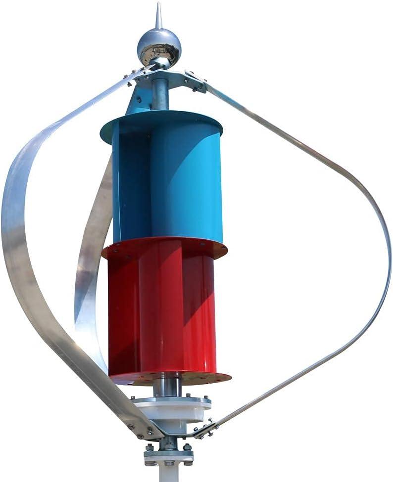 JANEFLY Generador de energía 400W 600W 800W Molino de energía eólica Eje Vertical Baja Velocidad del Viento de Arranque Eficiente para turbina eólica doméstica, 24v, 600w