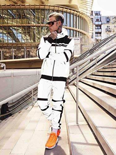 Project X Paris Bi-Material reflektierende Jogginghose Gr. XL, Réfléchissant