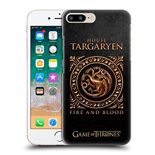 Head Case Designs Licenza Ufficiale HBO Game of Thrones Targaryen Sigillo Metallico Cover Dura per Parte Posteriore Compatibile con Apple iPhone 7 Plus/iPhone 8 Plus