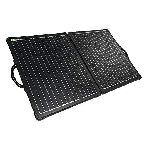 WATTSTUNDE 120W Solarkoffer ULTRA LIGHT WS120SUL - stabiles, faltbares Solarmodul in leichtbauweise ohne Laderegler (120W)