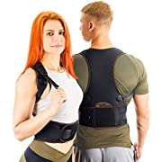 VOSMAE Posture Corrector Back Brace for Woman Men - Improve Universal Comfortable Fully Adjustable Spine Corrector - Clavicle Support Improve Bad Posture Shoulder Alignment and Pain Relief