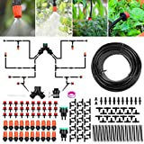 Sistema de riego Jardín, Kit de riego por goteo micro Riego automático Rociadores por goteo Riego de jardín para el paisaje, Lecho de flores, Plantas de terraza