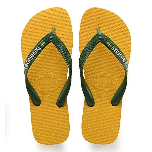 Havaianas Brasil Logo, Unisex-Erwachsene Zehentrenner, Gelb (Banana Yellow), 43/44 EU