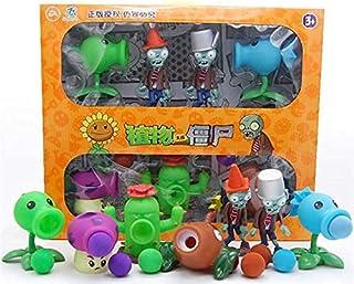 SKEIDO Plants vs Zombie Anime Figure Plant Pirate Peashooter Gatling Pea Shooter Puff-Shroom Model Dolls Kids Toy