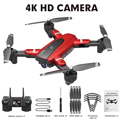 GPS HJ18 1080P 4K Drone, WiFi FPV Drone Plegable, Cámara de posicionamiento de Flujo, Sígueme, Gesture Photos / Video RC Quadcopter