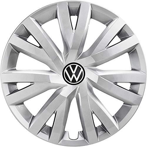 Volkswagen 5H0071456 YTI Tapacubos de 16 Pulgadas, llanta de Acero, Color Plateado, 4 Unidades