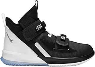Lebron Soldier 13 SFG Basketball Shoes (M11/W12.5, Black/White)