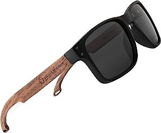 نظارات شمسية من الخيزران مع عدسات مستقطبة مصنوعة يدويًا من الخشب الشمالي من SKADINO