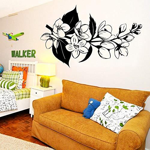hetingyue Grappige bloemenstickers van vinyl voor aan de muur, decoratie voor thuis, woonkamer, slaapkamer, decoratie