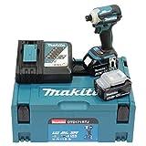 Makita Atornillador de impacto inalámbrico DTD171RTJ de 18 V, 5,0 Ah, 180 Nm, 2 baterías y cargador en MAKPAC