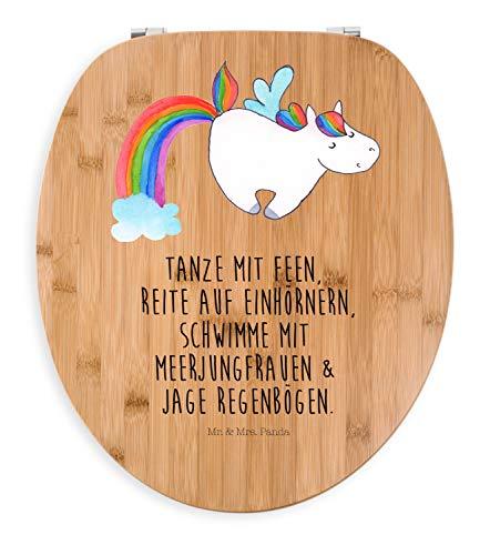 Mr. & Mrs. Panda Klodeckel, Holz, Motiv WC Sitz Einhorn Pegasus mit Spruch - Farbe Transparent