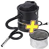 Aspiradora de cenizas 1200 W, 20 litros POWX308 + filtro
