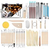 ARTBZS 57PCS Pottery Tools, Clay Sculpting Tool Set, Modeling and Pottery Tools Kit, Sculpting Tools for Polymer Clay and Miniature, Pottery and Sculpting Tool Set for Beginners and Professionals