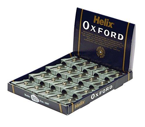 Helix Oxford pencil sharpener Metal anti-sabotage screw wedge 1 hole Ref Q01021 [Pack 20]