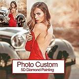 Foto personalizada diamante pintura punto de cruz cuadrado completo/redondo 5d diamante bordado...