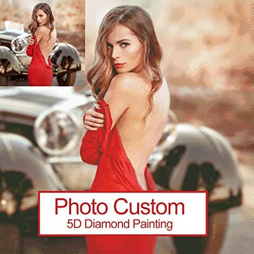 Peinture personnalisée de diamant de photo faite sur commande de diamant de photo 5D DIY, plein décor de mur de kit de broderie de foret de diamant