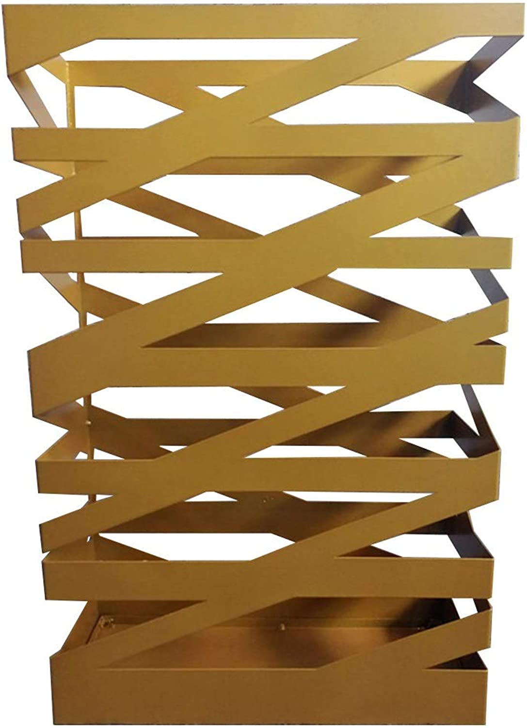 Metal Umbrella Stand Rack, Free Standing Umbrella Holder for Entryway Office Decoration - Space Saving (color   gold)