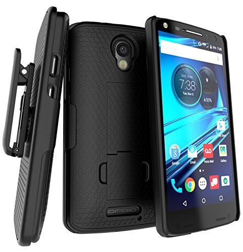 Encased Droid Turbo 2 Belt Clip Holster Case, Encased [DuraClip] Slim Cover w/ ClikLock Holster for Motorola Droid Turbo 2 (Verizon XT1585)