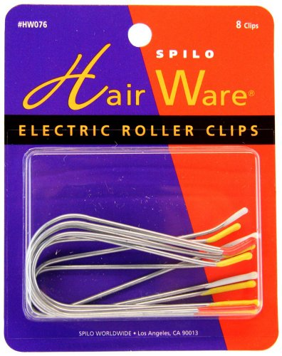 Spilo: Spilo Professional Electric Roller Clips, 8 counts