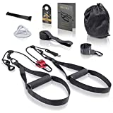 High Pulse Allenamento Sospensione (Set di 7 Accessori) – Suspension Training da casa inclusivo di carrucola, Ancoraggio Porta, Muro, Poster, Borsa, Fascia Fitness e Cartello Porta