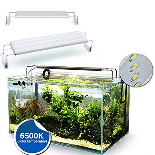 Ponacat iluminación de acuario led campana de luz de acuario pecera accesorio de luz led
