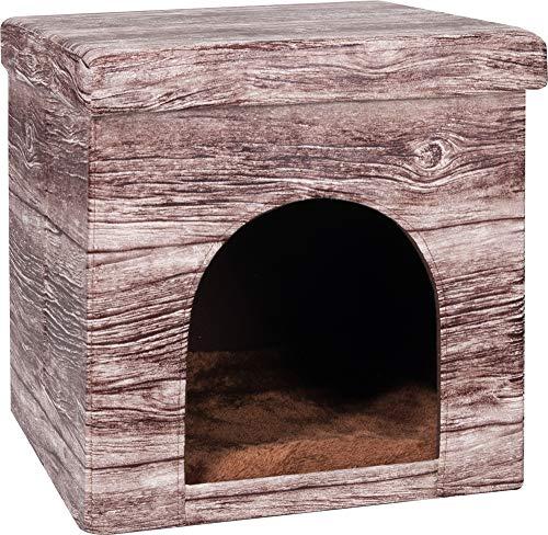 FLAMINGO Chalet Maisonnette pour Chat 38 x 38 x 37 cm