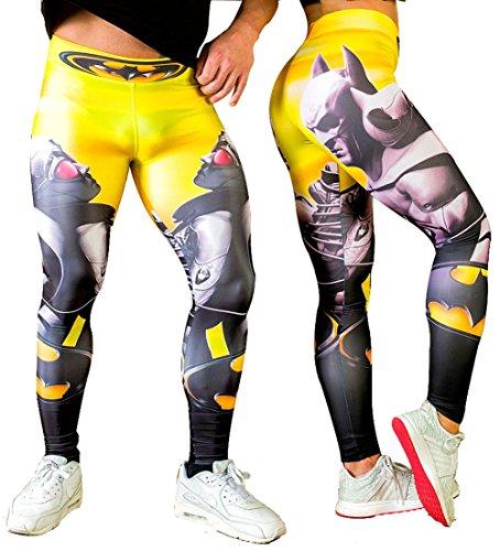 Mallas y legings Hombre y Mujer Running Fitness. Mallas compresivas. (Unisex/Batman) - S
