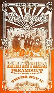 The Byrds - Bill Withers - 1971 - Paramount Theatre - Concert Poster