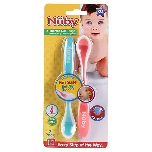 Nuby 2 Pack Hot Safe Spoons (Colours May Vary)