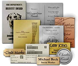 Personalized Laser Engraved Label Plate Service - 6x6 or Smaller
