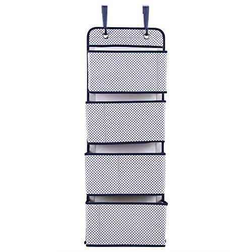 Rehomy Organizador de 4 niveles para colgar en la puerta, para zapatos, bolsillos de almacenamiento, para armario (puntos grises)
