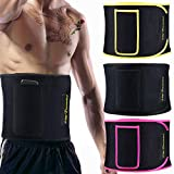 Waist Trimmer for Women and Men - Sauna Belt AB Belt with Comfortable Phone Pocket Waist Trainer for Weight Loss