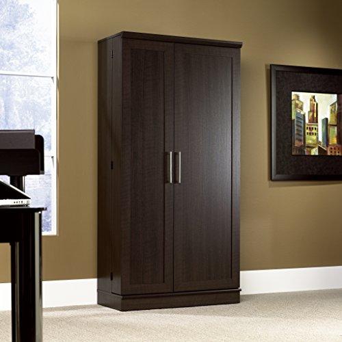 Sauder 411572 Home Plus Storage Cabinet,  L: 35.35 x W: 17.01 x H: 71.18, Dakota Oak finish