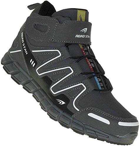 Bootsland High Top Stiefel Sneaker Herrenstiefel Herren Skater 005, Schuhgröße:43, Farbe:Grau