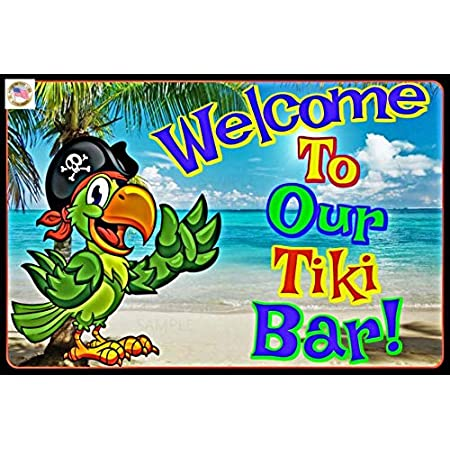 Tiki Bar Sign Its 5 OCLOCK Somewhere Made in USA 8x12 All Weather Metal Margaritaville Beach Bar Happy Hour Pool Beach Hot Tub Rum Time