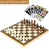 Best Chess Set For Kids - iBaseToy Folding Wooden Chess Set with 60 Game Review
