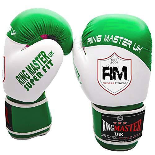 Ringmaster UK adultos guantes de boxeo de piel sintética,