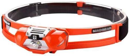 XUANLAN Waterproof Panoramic Trail Running Night Running Special Headlights Running Lights, Low Power, High Brightness (Color : Orange)