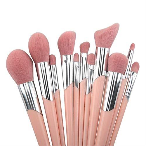 Pinceau De Maquillage 11 Pièces Outil De Maquillage Hypoallergénique Pour Cheveux Mous Rose M-196