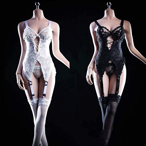 ZSMD 1/6 Scale Female Figure Doll Clothes, Handmade Sexy Lingerie Bodysuit Set for 12