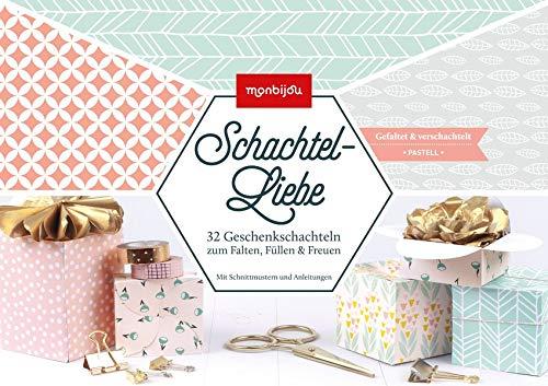 Schachtel-Liebe pastell: 32 Geschenkpapier zum Falten, Füllen & Freuen (monbijou): 32 Geschenkschachteln zum Falten, Füllen & Freuen