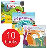 Miles Kelly Dinosaur Adventures 10 Books Collection Set (Allosaurus, Ankylosaurus, Brachiosaurus, Diplodocus, Iguanodon, Plateosaurus and More)