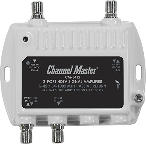 Channel Master Ultra Mini 2 TV Antenna Amplifier, TV Antenna Signal Booster with 2 Outputs for...